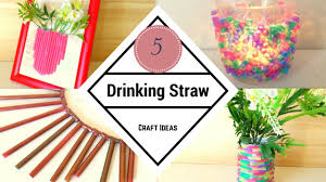 diy five drinking straw craft ideas recycling straw hacks by
