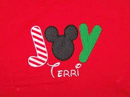 disney mickey mouse joy christmas shirt personalized applique