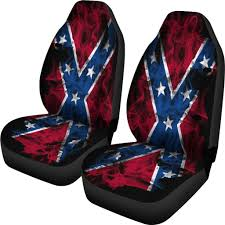 Confederate Flag Rear Window Decal Confederate Flag Seat Covers Let U0027s Print Big