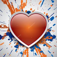 love bomb color explosion vector bang bright spray orange and