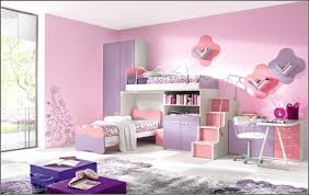 Pinkpurple Shade Mahogany Wood Girls Bunk Beds With Stairs Using - Girls bunk bed with desk