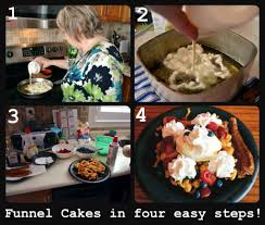 family funnel cakes u0026 fitness running with spatulas