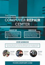 computer repair services a5 promotional flyer http