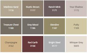 colour paint chart