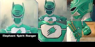 power rangers jungle fury elephant spirit ranger minecraft skin
