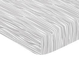 sweet jojo designs woodland animals wood grain print fitted crib