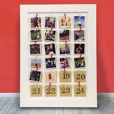 personalised photo framed advent calendar by instajunction