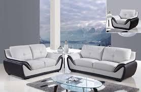 U3250 Sofa In Grey Black Bonded Leather By Global Furniture
