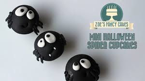 Spider Cakes For Halloween Mini Halloween Spider Cupcake Ideas How To Cake Tutorial Youtube