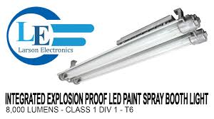 led paint booth lighting integrated explosion proof led paint spray booth light 8 000