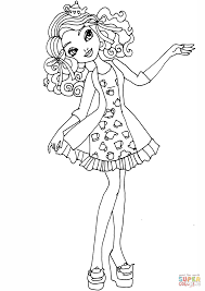 ever after high getting fairest madeline coloring page free