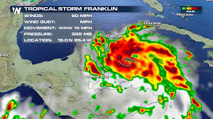 Yucatan Peninsula Map Tropical Storm Franklin Strengthens As It Approaches Mexico