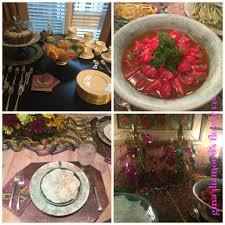 crawfish decorations cookbook club mardi gras luncheon recipes crawfish quiche a