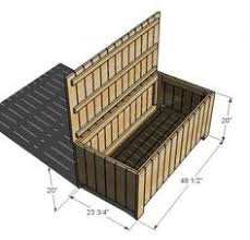 plans for deck bench which allows storage space for seat cushions