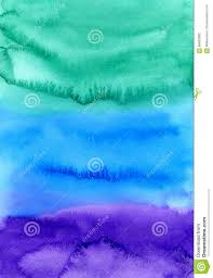 Blue Green Paint by Abstract Watercolor Hand Painted Background Colorful Texture In