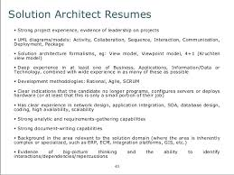 Solution Architect Resume Sample by Sample Solution Architect Resume Collectorsdiverged Cf