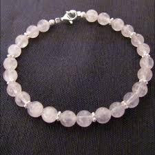 bracelet quartz rose images Bracelet perles de quartz rose et argent jpg