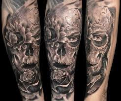 flower and skull by robert zyla design of tattoosdesign