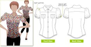 blouse sewing patterns camilla blouse fashion technical drawings camilla