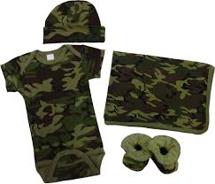 army pattern clothes green camo baby clothes gift set 4 pc baby milano