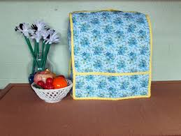 quilted kitchen appliance covers kitchen decor dust cover blue and yellow floral decor quilted