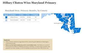 Primary Map 2016 Maryland Democratic Primary Results And Voting Map