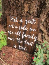Wedding Seating Signs Pick A Seat Not A Side Wedding Seating Sign Wedding Ceremony