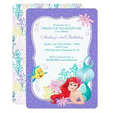ariel birthday card disney zazzle ca