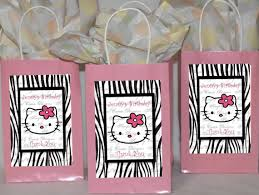 hello gift bags diy hello kiity party hello zebra pintable diy