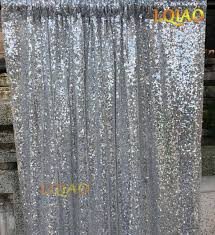 4ftx6ft silver shimmer sequin fabric photo booth backdrop sequin curtains panels photography wedding photobooth background decor