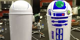 Bedroom Trash Cans For Girls D I Y Star Wars R2 D2 Garbage Can Geekdad
