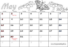 may 2016 calendar pdf for and adults free printable pdf