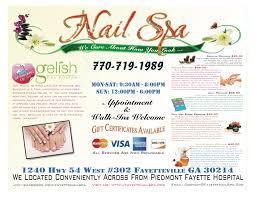 nail spa salon price list