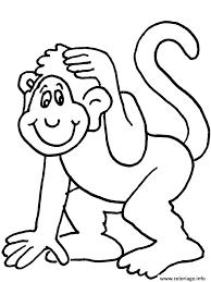 coloriage singe dessin à imprimer gratuit