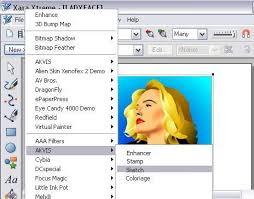 convert vector drawing to sketch akvis sketch and xara xtreme