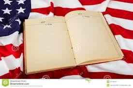 Flag Book Open Book On American Flag Stock Image Image Of Element 42146157
