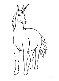 unicorn color coloring pages kids fantasy u0026 medieval