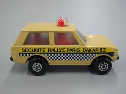 land rover dakar toy matchbox security car police patrol no 20 rolamatics