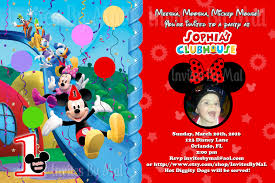 mickey mouse clubhouse 1st birthday invitations lilbibby com