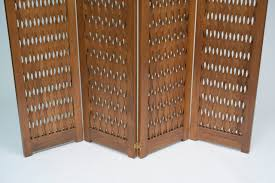 mid century room divider large mid century modern carved wood screen privacy room divider