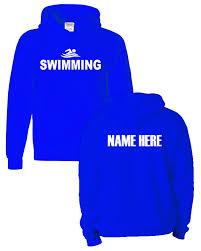 plain light blue hoodie swim sweatshirt hoodie with name metro swim shop