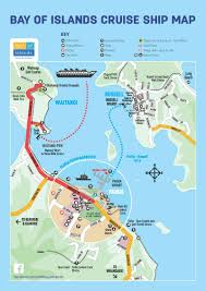 official cruise ship u0026 port map for the bay of islands