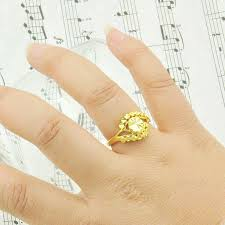 golden hand rings images Adjustable size female models live on imitation gold rings gold jpg
