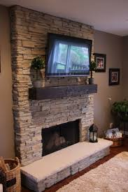 unique fireplace with stone veneer design ideas 5446