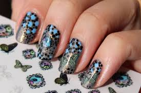 vintage flowers 3d nail art stickers polished polyglot