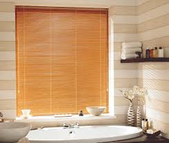 Bathroom Blinds Ideas Wood Blinds With Curtains Best For Bathrooms Intended Inspiration