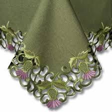 Tablecloths In A Range Of Scottish Designs Including Thistle By - Table cloth design