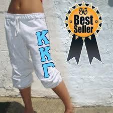 greek sweatpants with sewn on greek letters greek apparel