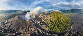bromo volcano java indonesia 360 aerial panoramas 360