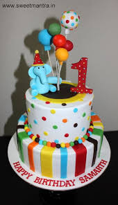 deliver birthday cake and balloons balloons theme 2 layer customized colorful designer cake for baby